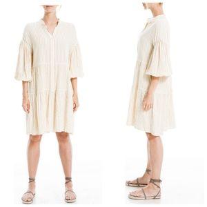 NEW Max Studio bubble sleeve tiered dress